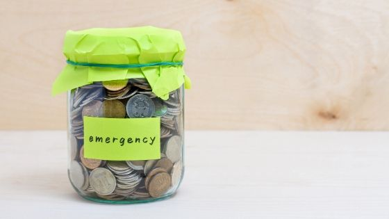 Money Emergency Jar Coins